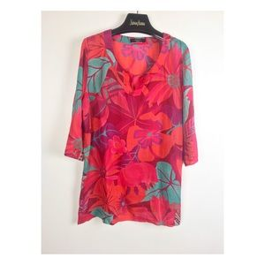 Weekend MaxMara oversize Floral Blouse Beach Cover